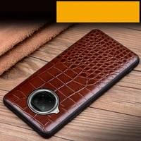 genuine leathe case for xiaomi mi 10t lite 10 ultra poco f2 pro cowhide slim soft bumper hard back cover coque