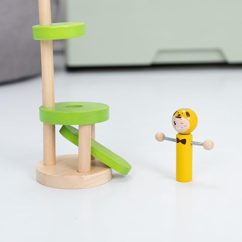 Wooden toys dance is puppet Adult desktop decompression game Children's toy desktop game kindergarten supplies Creative toy gift enlarge