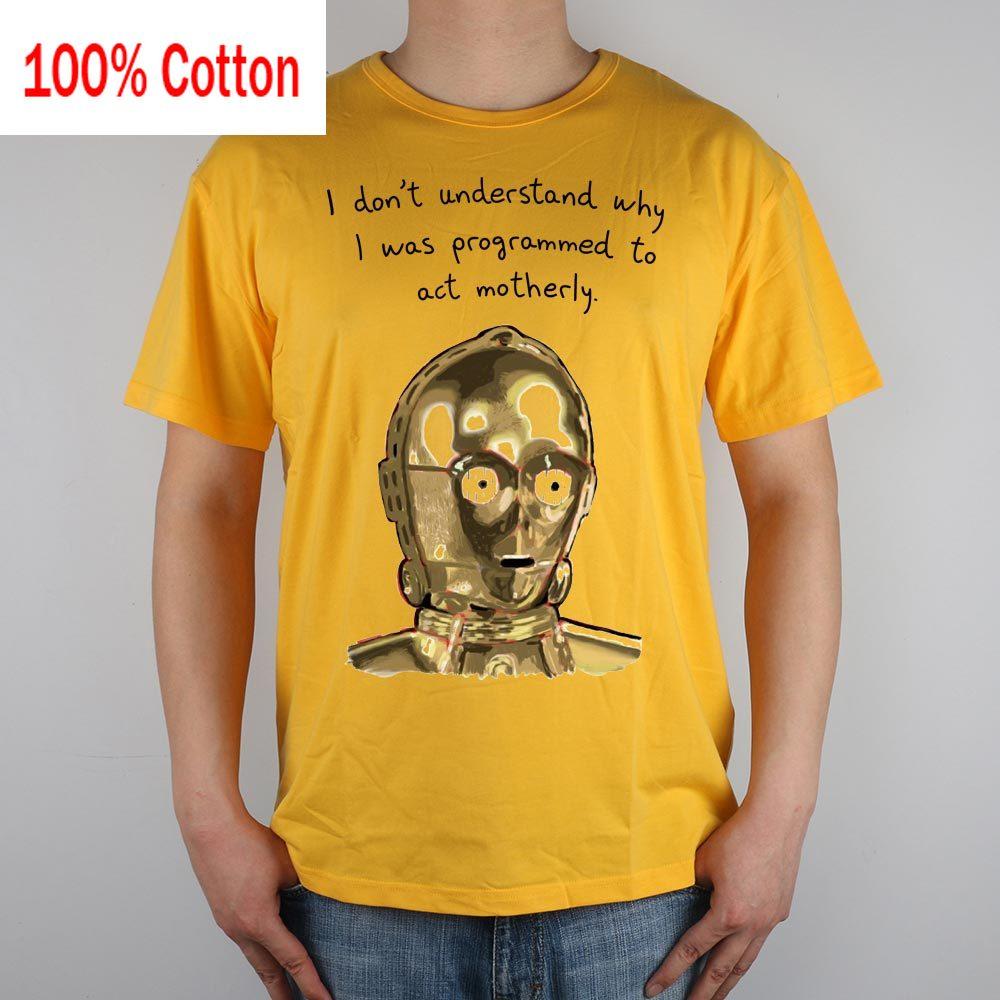 C3po star wars ser engraçado engraçado camiseta topo lycra algodão men t camisa novo design de alta qualidade impressão a jato de tinta digital