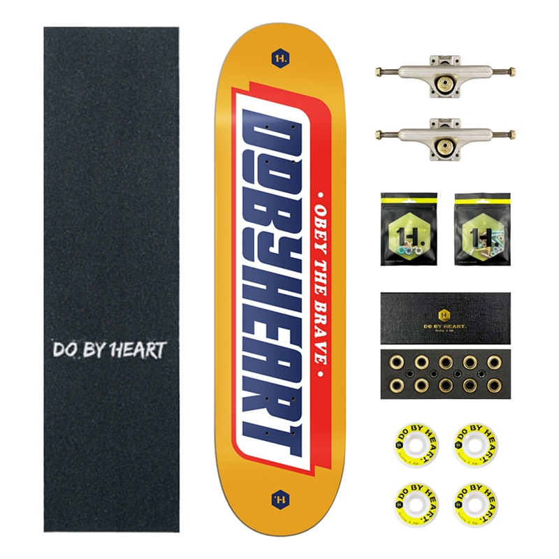 Professional Skateboard Beginner Youth Adult Male and Female Street Four-Wheel Road Twin Tips Force Frame Yellow Flagship