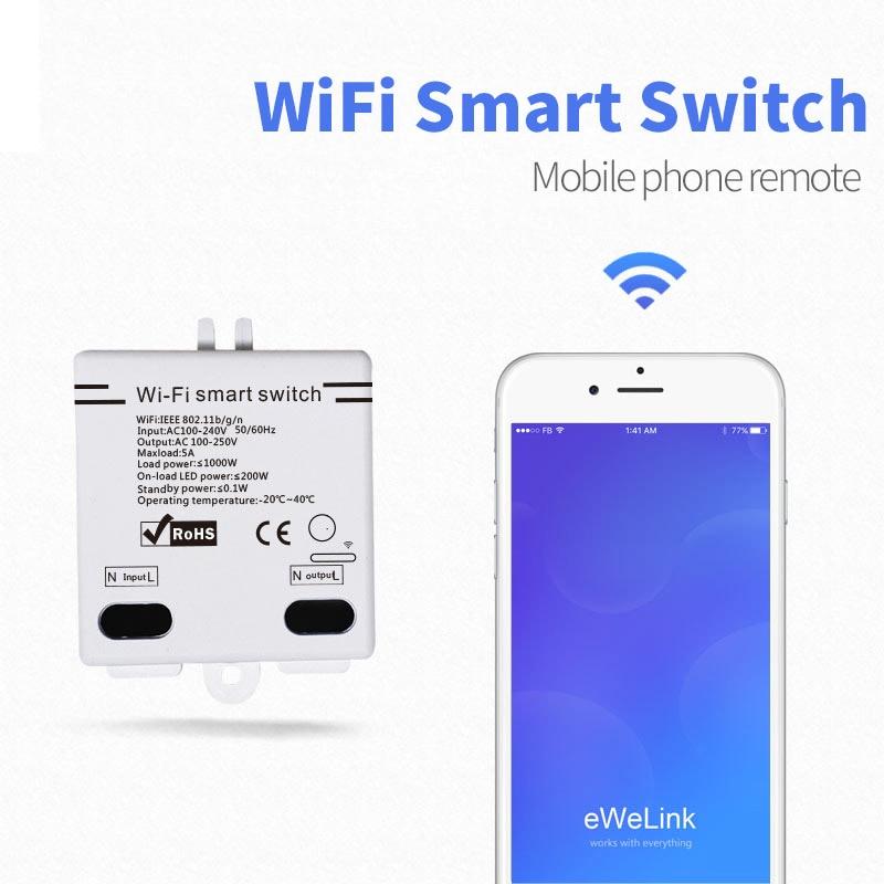 Smart Home EWelink WIFI Smart Switch Wireless Remote Control 5A 100-250V WiFi Smart Home Modified Accessories Modified Switch