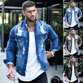 Jeans Jakcet Coat Men Blue Black Denim Jackets Male 2021 Spring Autumn Men Clothing Streetwear Casual Slim Fit Jean Coat