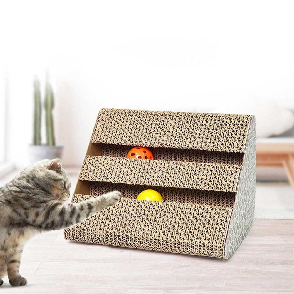 Cat Scratch Board Cats Scratcher Kitten Scratch Pad Corrugated Paper Scratch Board For Pet Kittens Cat Scratcher Toy