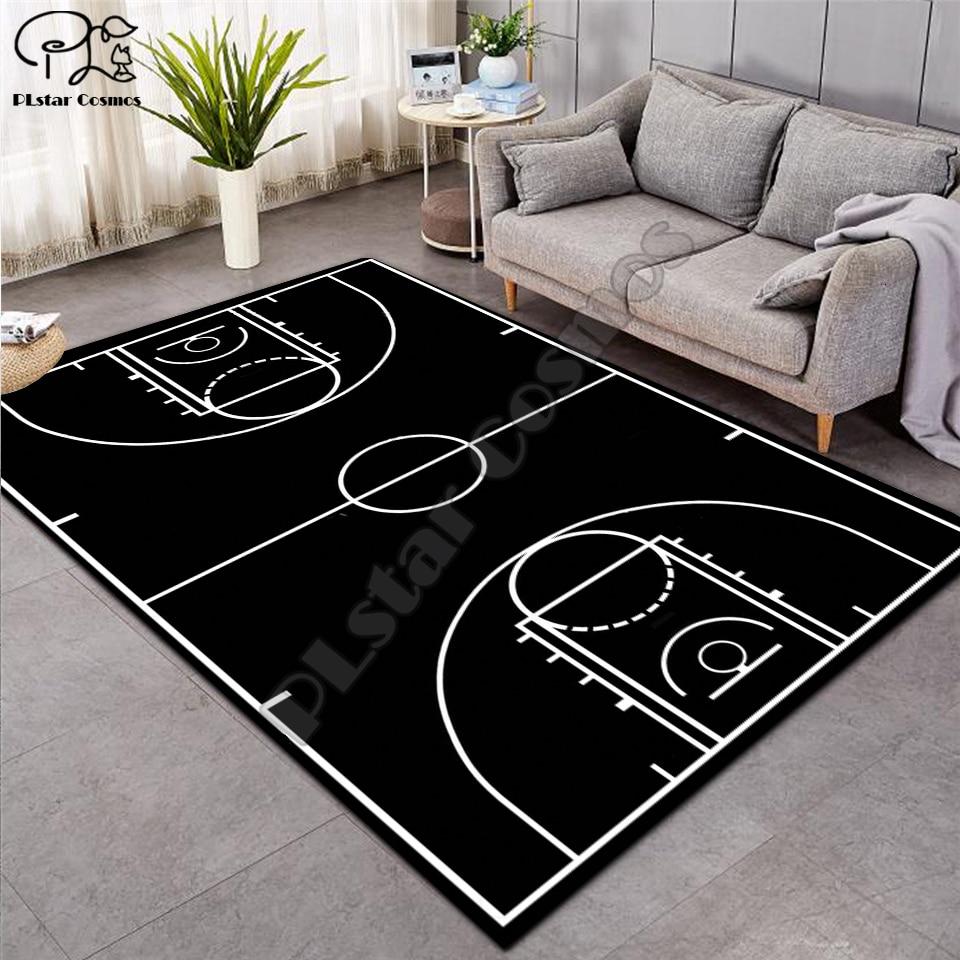 Tapete 3d basquete tapete maior flanela veludo memória tapete macio jogo tapetes do bebê craming cama área salão decoração 01