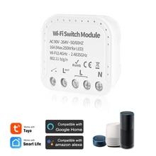 MINI Wifi Smart Light Switch 2 Way Diy Breaker Module Tuya APP Remote Control, Compatible With Alexa Google Home/Nest IFTTT