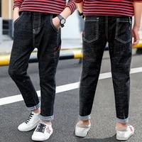 ienens kids baby boys jeans clothes denim long pants children boy slim elastic waist trousers clothing