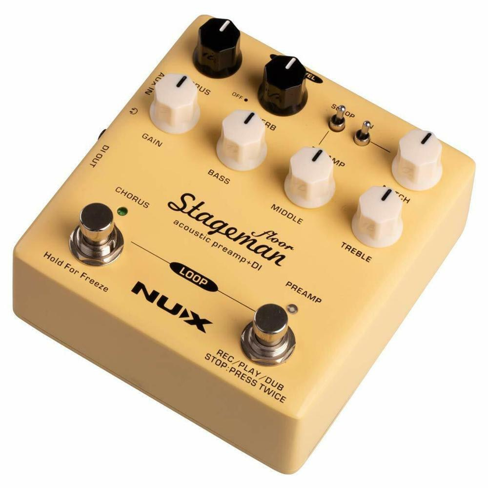NUX Stageman Floor Acoustic Preamp & DI Pedal With Chorus Reverb Freeze 60's Loop Effect Pedal For Guitar Instruments Parts enlarge