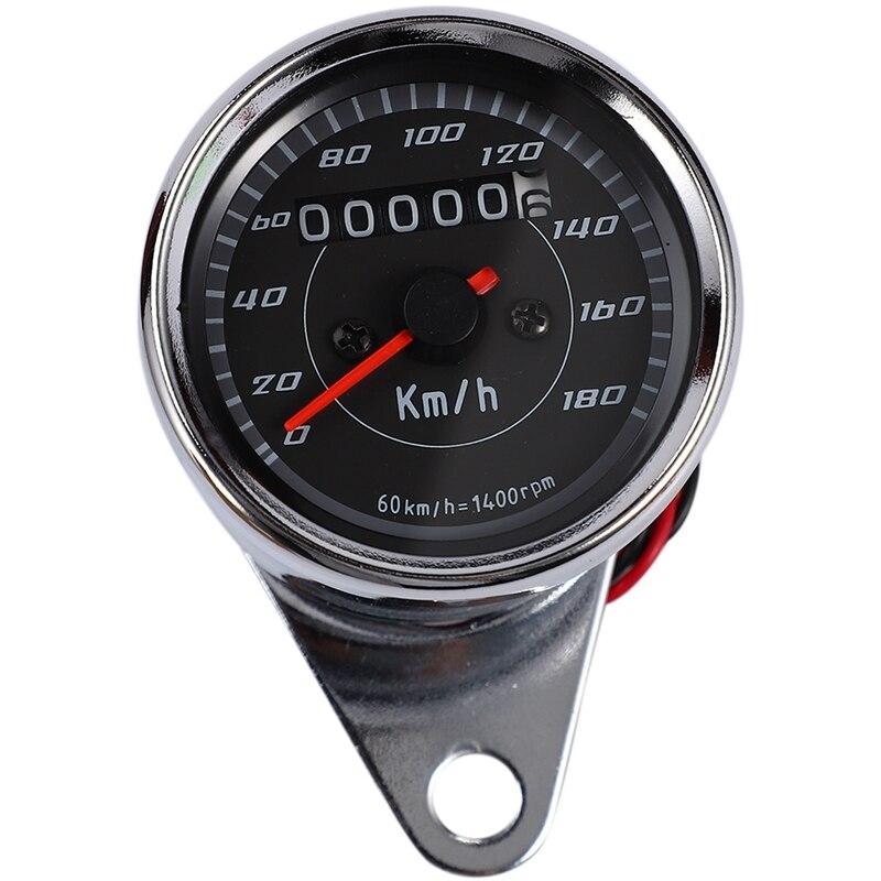 Nuevo tacómetro LED de motocicleta medidor de velocidad Retro cromado tacómetro de motocicleta para Honda CG125