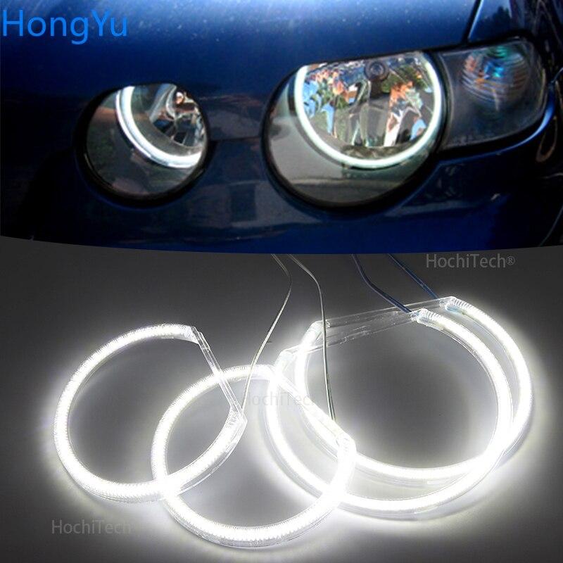 Para BMW E46 serie 3 Compact 2001-2005, color blanco superbrillante, 3528 SMD, kit de luces led, Ojos de Ángel, luz diurna DRL
