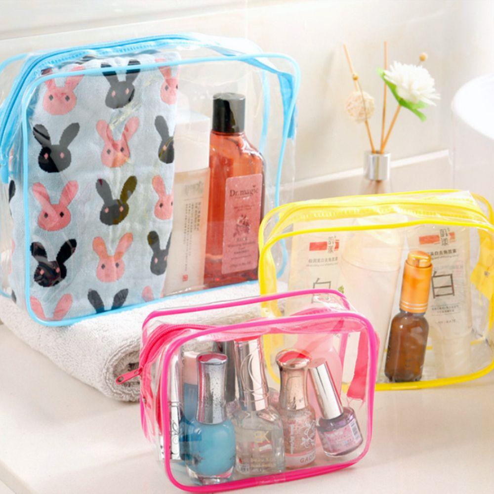 Прозрачные косметички из ПВХ для женщин, дорожные прозрачные сумки для макияжа на молнии, водонепроницаемый органайзер для хранения космет...