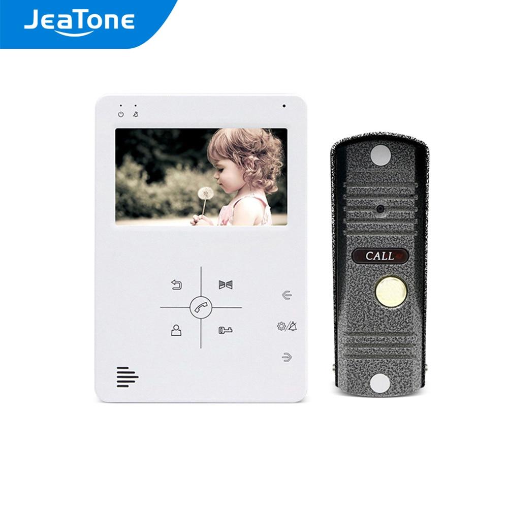 Video Door Phone Intercom 1200TVL Pinhole Camera 4.3/7 Inch Monitor Video Record Unlock Door Home Security Access Control System