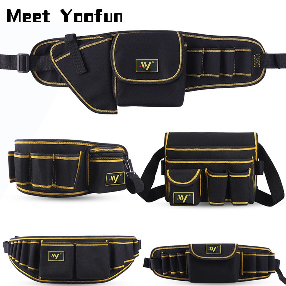 Multi-function Waist Pack Repair Tool Storage Bag Oxford Cloth Hardware Tool Pocket Wrench Pliers St