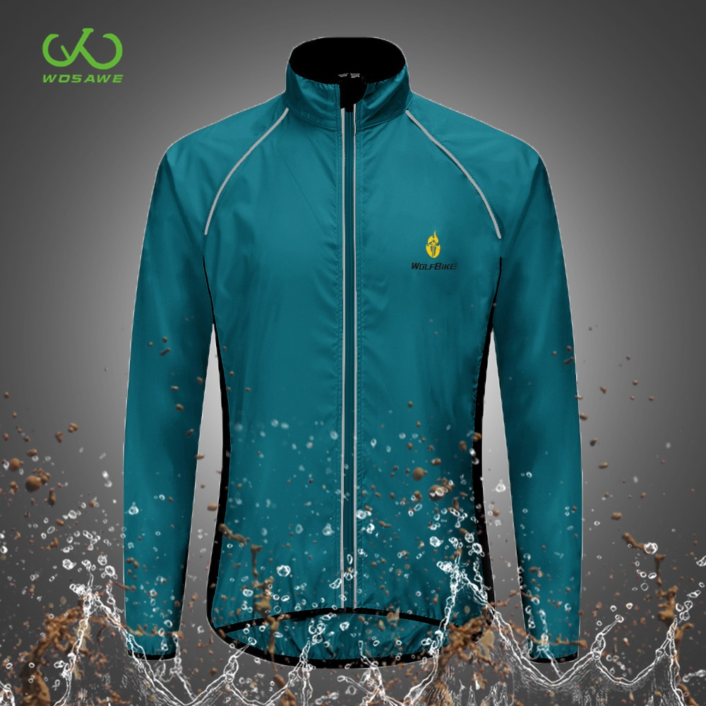 WOSAWE Thin Reflective Motorcycle Jacket Water Rain Repellent Outdoor Sports Bike Bicycle MTB Windbreaker Jackets Long Sleeve enlarge