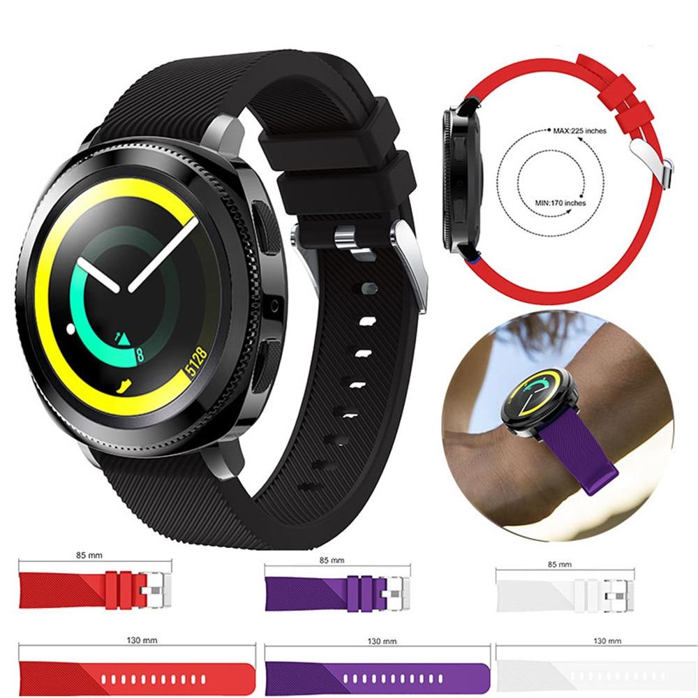 Sport Watch Band for Samsung Gear sport Watch Strap Band Silicone Watchband for Samsung Galaxy Watch Active Replacement Bracelet