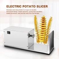 automatic spiral cutting potato machine fruit and vegetable stainless steel spiral cutting potato machine kitchen tools