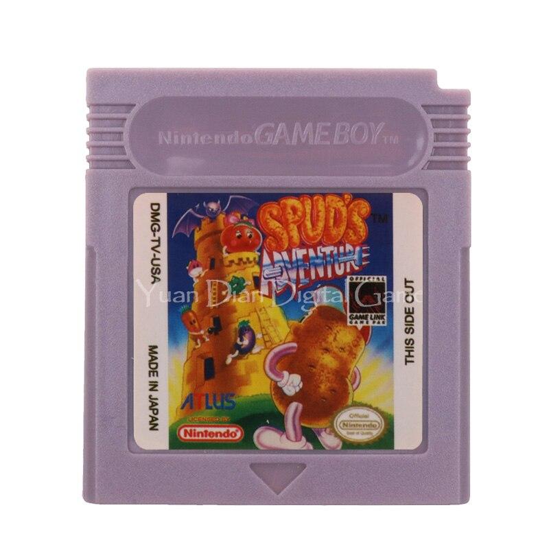 Para Nintendo GBC cartucho de videojuego consola tarjeta aventura de Spud versión en inglés