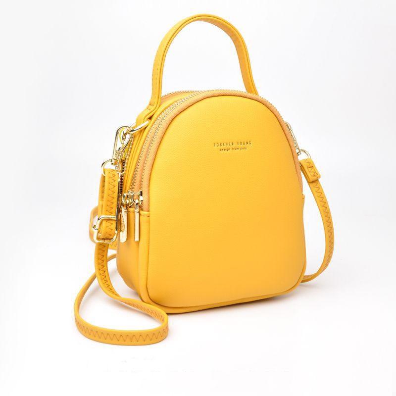 Brand Designer Leather Solid color Ladies Backpack Women Soft Touch Female Shoulder Bag Girl Purse Rucksack Big Capacity 3 Layer
