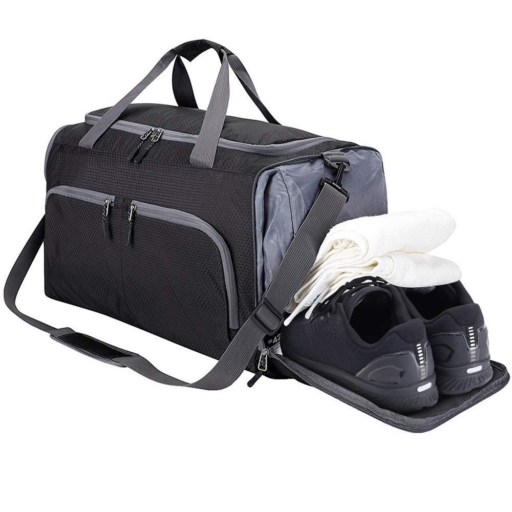 Mochila de deporte al aire libre bolsa de Yoga resistente al agua 45 l con compartimento húmedo bolsa de Camping portátil de viaje mochila grande para senderismo