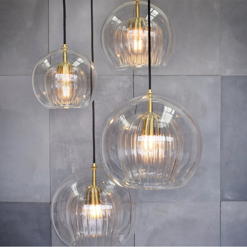 الشمال الزجاج LED الثريا الحديثة المطبخ الثريا بار الصناعية ضوء غرفة الطعام ضوء غرفة المعيشة ديكور المنزل