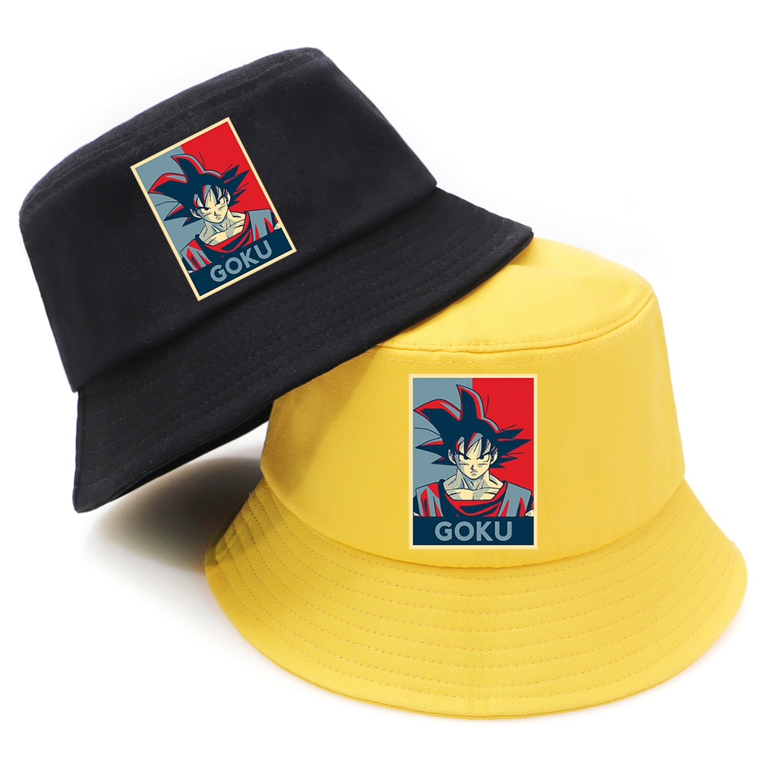 Sombrero de pescador con protección solar de Dragon Ball de Anime, sombrero de hombre, sombrero de cubo de Hip Hop, k-pop gorra de pesca, moda femenina, sombreros de Bob negro