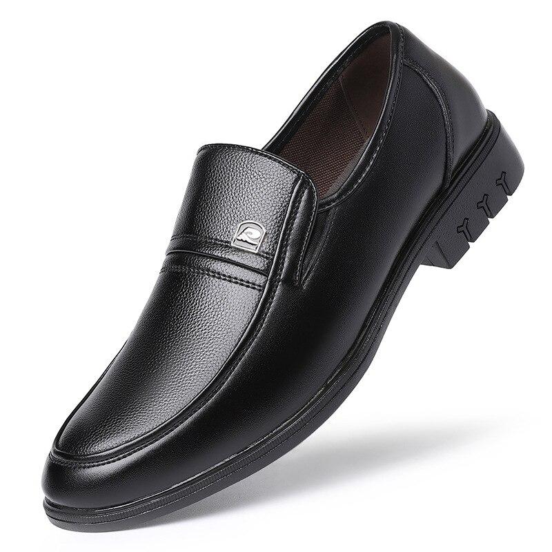Мужская обувь, Новинка весна-осень 2021, официальная одежда, кожаные туфли, мужская деловая одноэтажная повседневная обувь