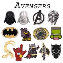 Broche de Los Vengadores pines Thor Loki Iron Man Capitán América superhéroe Dr who Pantera Negra broches para Mujeres Hombres regalo
