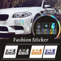 gas grass or ass nobody rides for free car window vinyl decal personality waterproof car sticker for honda bmw toyota