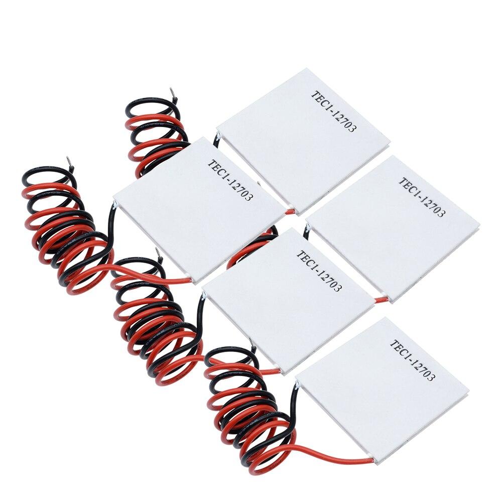 12V CC TEC1-12703 TEC1 12703 TEC refrigerador termoeléctrico Peltier 40*40M Peltier elemento módulo disipador térmico Placa de enfriamiento