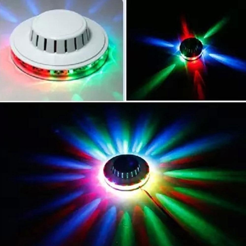 100-240V Bar DJ fondo de sonido luces de pared Mini LED RGB girasol Proyector láser Disco escenario luz Navidad Fiesta lámpara Mew