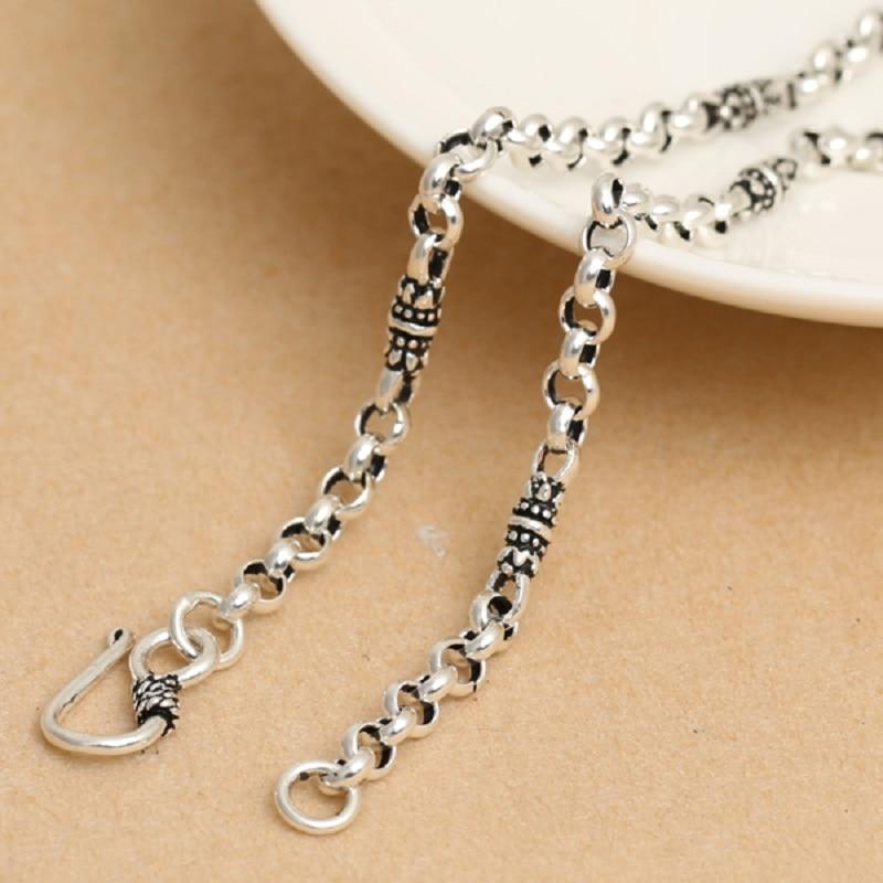 الفضة الحقيقية الأزهار مشبك قلادة رجل امرأة S925 فضة الكلاسيكية لوتس دائرة مزيج قلادة مجوهرات