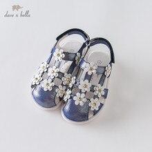 DB12879 Dave Bella 여름 아기 소녀 패션 샌들 새로 태어난 유아 신발 샌들 꽃 appliques 신발