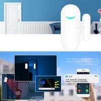 Tuya-smartlife     Kit systeme dalarme de securite domestique filaire  wi-fi  GSM  RFID  Anti-vol  Compatible avec Alexa et Google Home  application sans fil