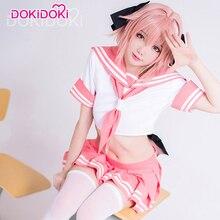 DokiDoki Fate/Apocrypha Astolfo Cosplay Costume Anime Game Fate Cosplay Astolfo Sailor Uniform Women Cute Pink Dress