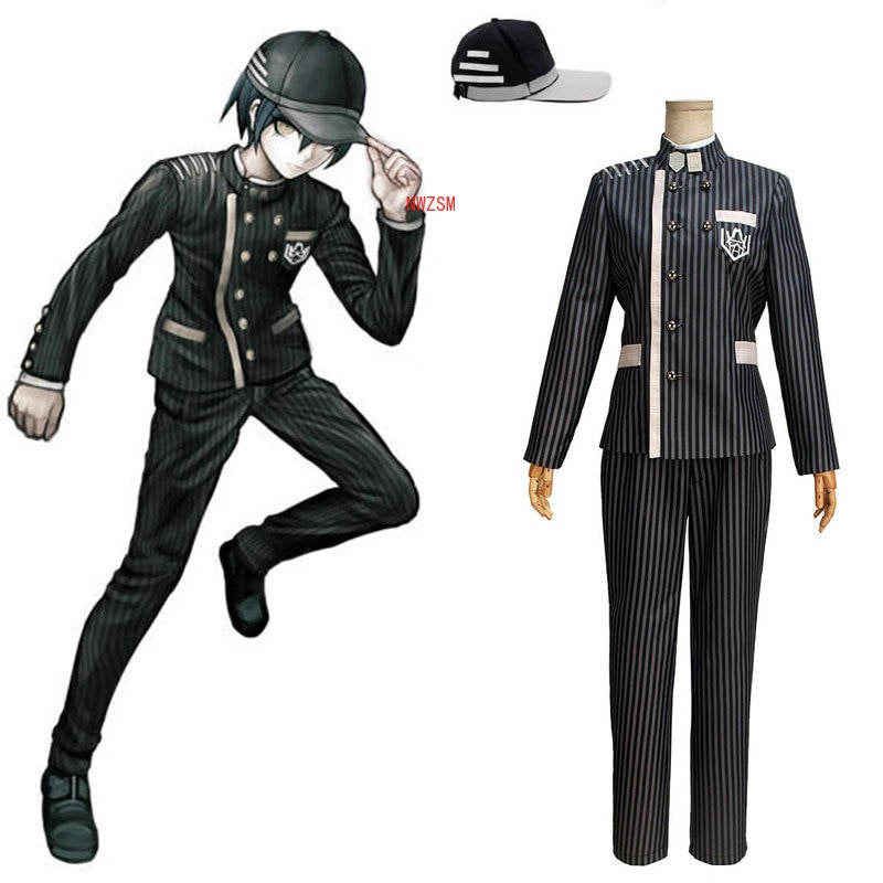 New Danganronpa V3 Cosplay Saihara Shuichi Cosplay Costume Anime Game School Uniform Suit Outfit Coat + Pants + Hat pocket monster cosplay costume pokemon go cosplay clothing male trainer team valor game anime outfit three color custom made