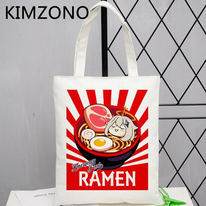 Genshin Impact shopping bag cotton handbag shopper eco grocery recycle bag bag reciclaje tote net bolsas reutilizables custom