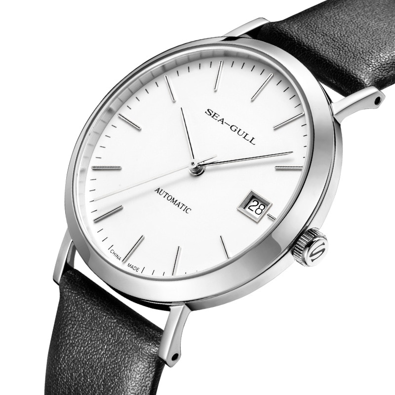Seagull 5113L man watch Lovers movement ST2130 mechanical Classic leather waterproof of 30M women's watch sapphire crystal enlarge
