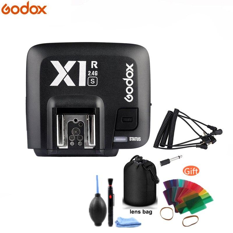 Godox Original en Stock X1R-S receptor inalámbrico de 2,4G para transmisor de disparador de X1T-S para Sony A58 A7RII A7II A99 A7R A6300