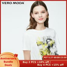 Vero Moda Womens 100% Cotton Person Pattern Print T-shirt   319201639