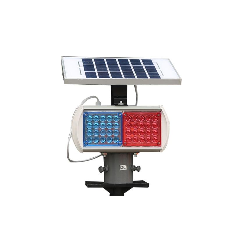 FAIRY Solar Warning Lights Aluminum LED Strobe Flashing Light  Double Side Red And Blue Signal light enlarge
