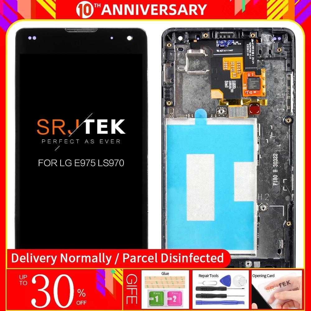 Pantalla táctil Original para LG E975 con marco digitalizador para LG Optimus G E975 LCD LS970 F180 E971 E973 probado