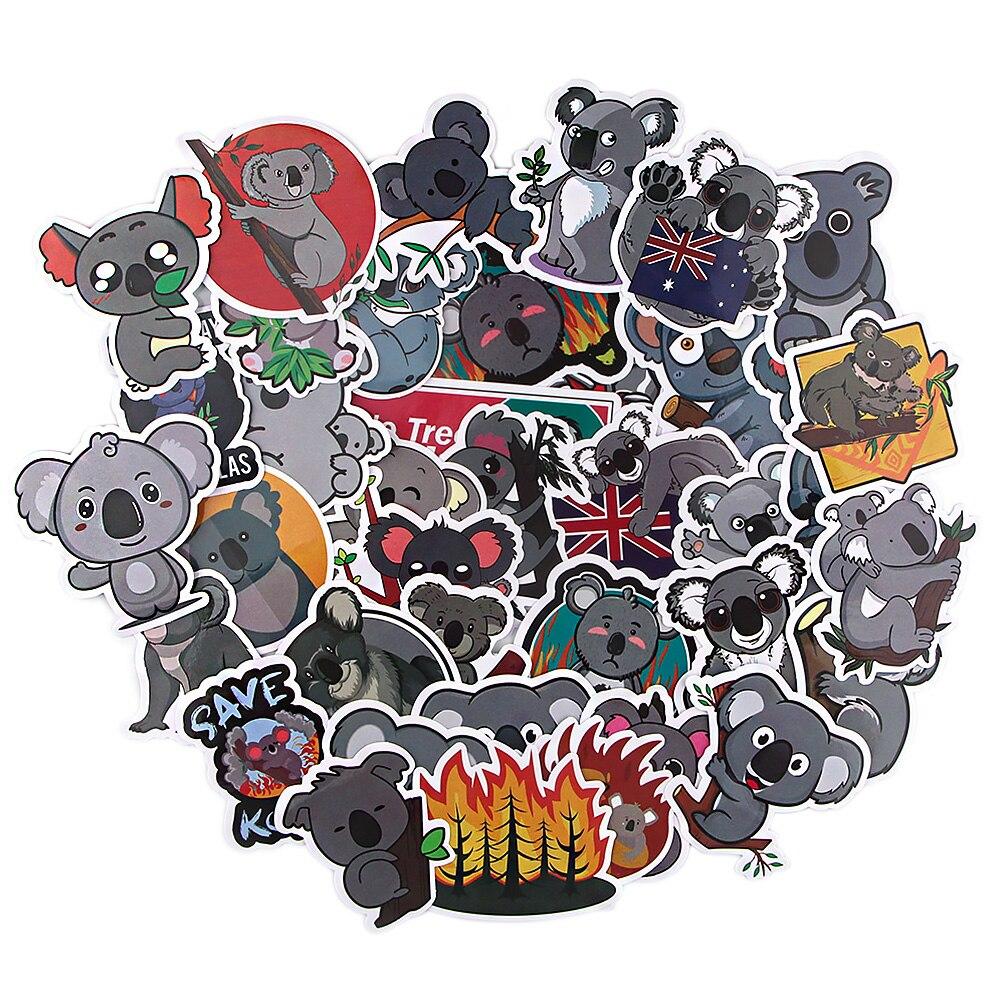 A3857 patchwork 38 Uds. Koala de dibujos animados pegatina de animales para DIY Scrapbooking álbum equipaje portátil pegatinas para ordenadores portátiles pegatina impermeable