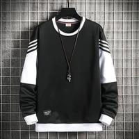 men crewneck long sleeve sweatshirts new japanese harajuku fashion streetwear hoodie men casual sweatshirt clothes oversize tops