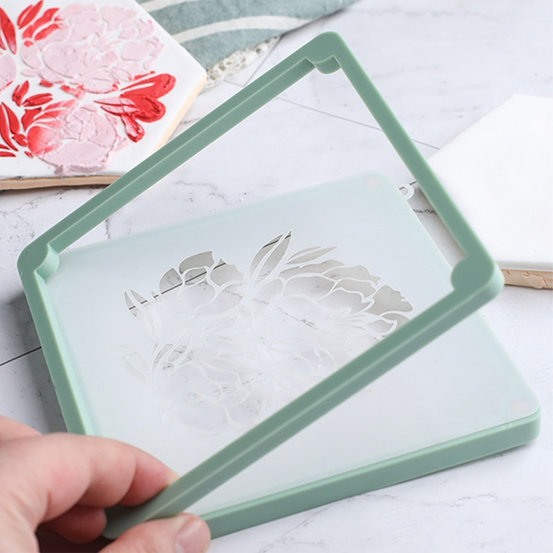Kitchen Gadgets Baking Accessories Cake Decoration Tools Printing Die Cake Stencil Fixing Frames Fon