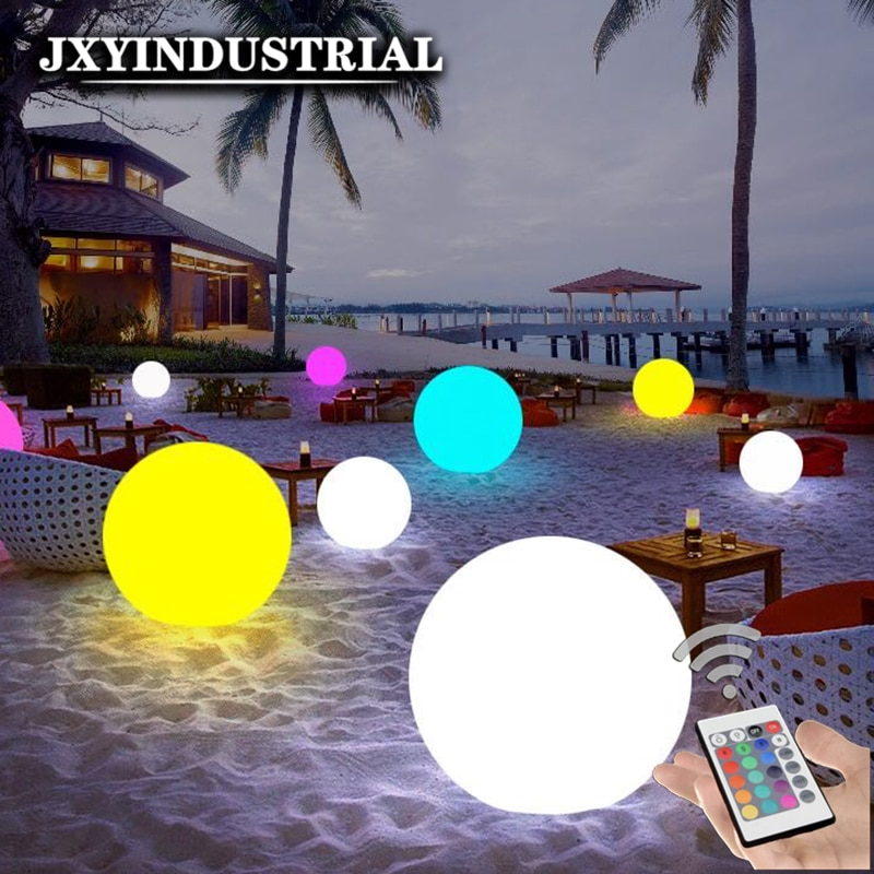 Dia25cm Rechargeable RGB LED Light Ball 24Key Remote Control 16 Colour Night Glowing LED Sphere GARDEN PARTY DECORATIVE BALL