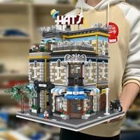 Creator Expert Ideas City Street View Hat Shop 3140Pcs Moc Modular Bricks Building Blocks House Model Toys Garden Center PetShop