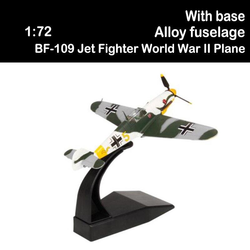 Modelo de avión BF-109 clásico de la Segunda Guerra Mundial, modelo de avión de ejército, juguetes para niños y adultos, avión militar, recuerdo de Chico, 1/72