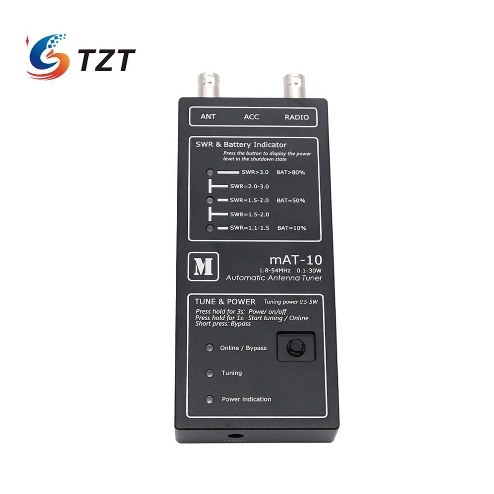 Esteira de tzt-10 sintonizador automático 1.8-54mhz 0.1-30w da antena para o rádio de yaesu ft-817/818 qrp