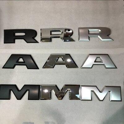 1 set Of RAM Matte Black Chrome RAM 3D Letters Tailgame Emblem Rear RAM Sticker for Dodge RAM 1500 2015 2016 2017 2018