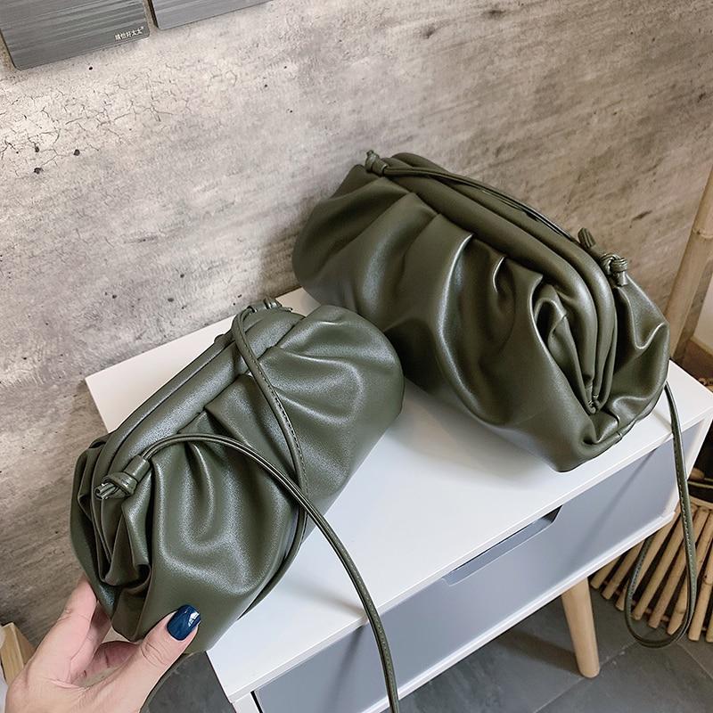 Women Simple Dumplings Messenger Bag Designer Retro 2021 New Fashion Cloud Female Crossbody Shoulder Bag Tide Handbag Clutch Bag