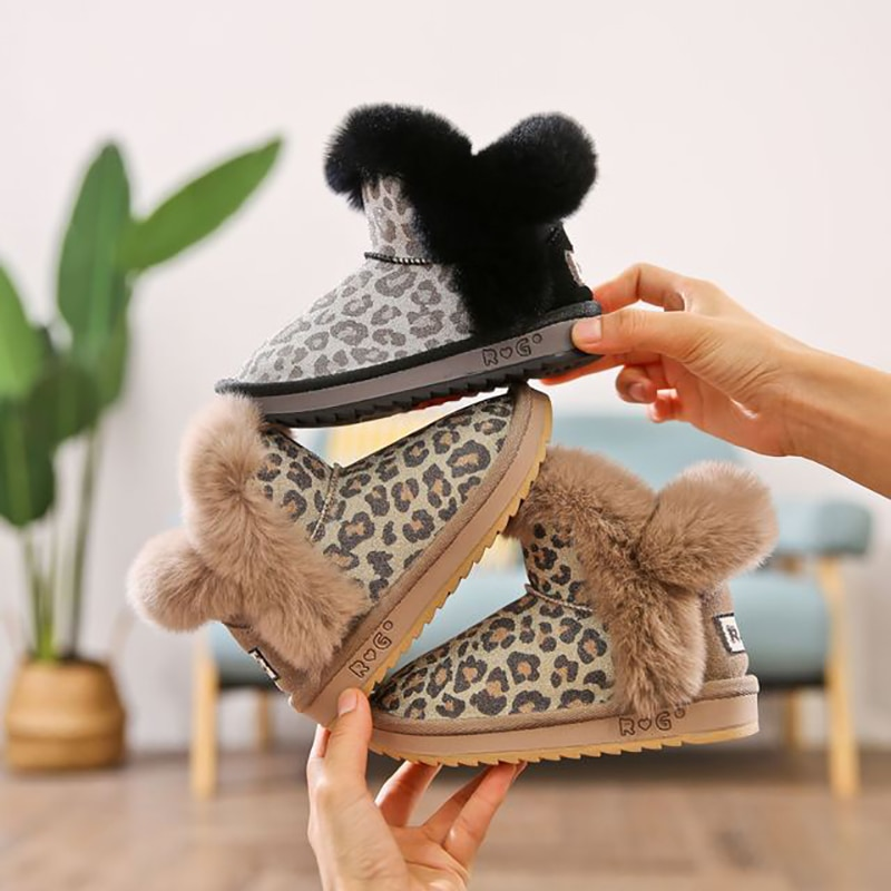 dolakids-2020-winter-new-childrens-shoes-snow-boots-baby-cotton-boots-leopard-rabbit-hair-shoes-for-girls